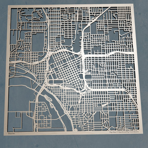 Tulsa, Oklahoma - 3D Wooden Laser Cut Map | Unique Gift