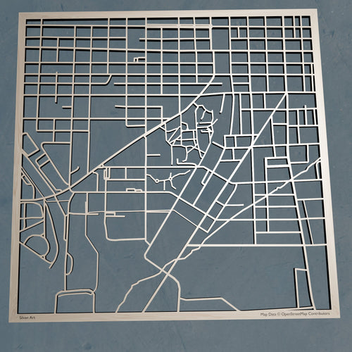 Indiana University of Pennsylvania IUP 3D Wooden Laser Cut Map | Unique Gift - Silvan Art
