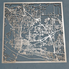 Load image into Gallery viewer, Vancouver Washington - 3D Wooden Laser Cut Map | Unique Gift