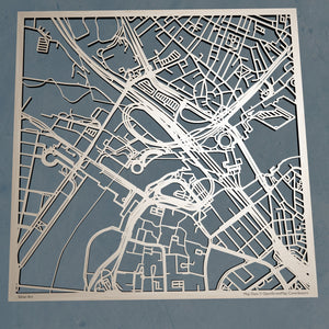 Hult International Business School 3D Wooden Laser Cut Campus Map | Unique Gift - Silvan Art