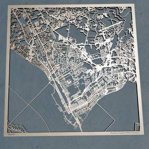 Newport News Virginia - 3D Wooden Laser Cut Map | Unique Gift