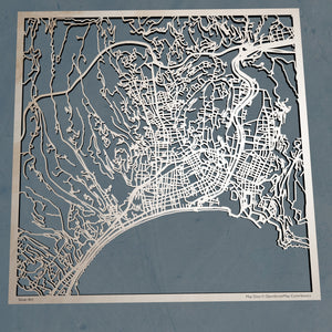 Nice France - 3D Wooden Laser Cut Map | Unique Gift