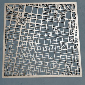 Thomas Jefferson University TJU 3D Wooden Laser Cut Map | Unique Gift - Silvan Art