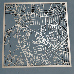 Worcester State University 3D Wooden Laser Cut Campus Map | Unique Gift - Silvan Art