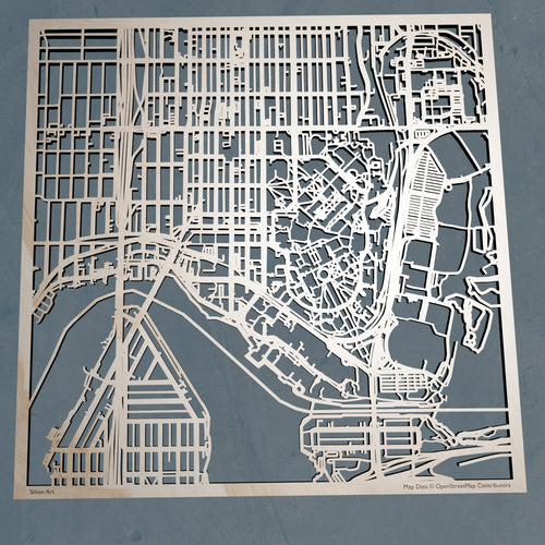 University of Washington - 3D Wooden Laser Cut Campus Map | Unique Gift