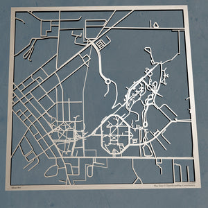 Slippy Rock University of Pennsylvania SRU 3D Wooden Laser Cut Map | Unique Gift - Silvan Art