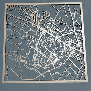 UNH University of New Hampshire (Durham) 3D Wooden Laser Cut Campus Map - Silvan Art