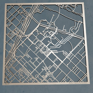 Baylor University 3D Wooden Laser Cut Campus Map - Silvan Art