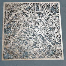 Load image into Gallery viewer, Paris France - 3D Wooden Laser Cut Map | Unique Gift