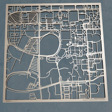 Load image into Gallery viewer, Auburn University 3D Wooden Laser Cut Campus Map - Silvan Art