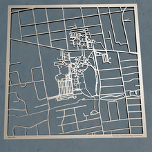 Load image into Gallery viewer, Monmouth University 3D Wooden Laser Cut Campus Map - Silvan Art