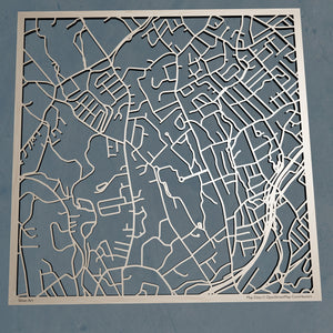 Fairfield University 3D Wooden Laser Cut Campus Map | Unique Gift - Silvan Art