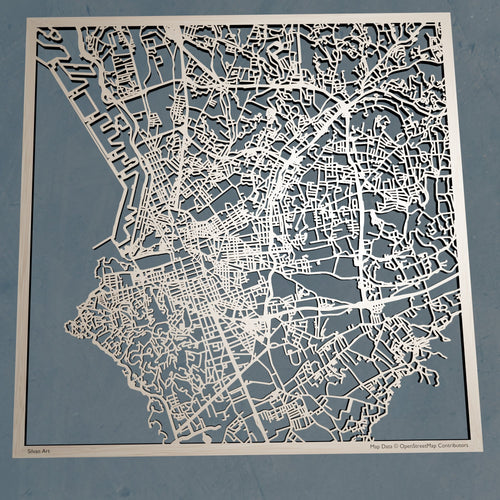 Marseille France - 3D Wooden Laser Cut Map | Unique Gift