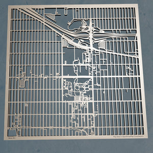 University of Denver 3D Wooden Laser Cut Campus Map | Unique Gift