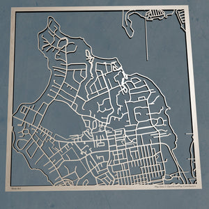 USMMA United States Merchant Marine Academy cut Map | Unique Gift - Silvan Art