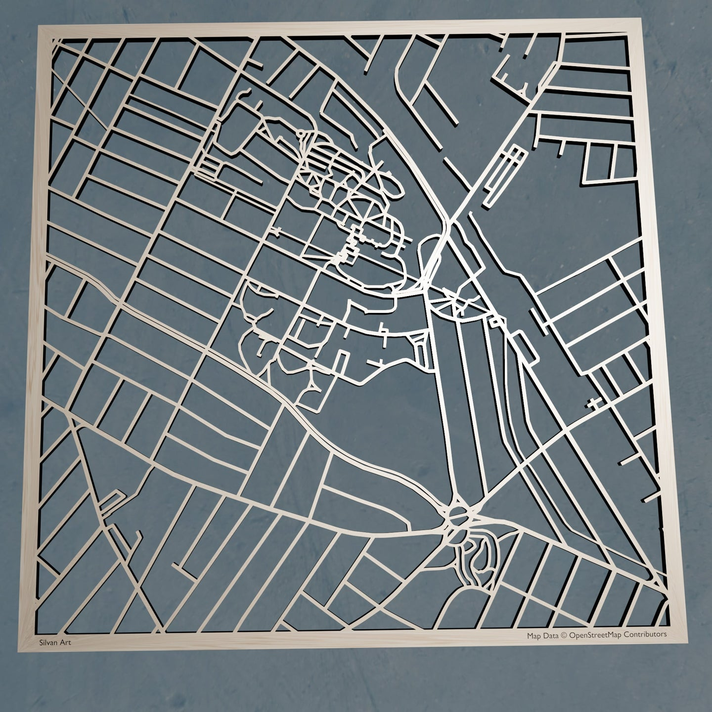 Tufts University 3D Wooden Laser Cut Campus Map | Unique Gift