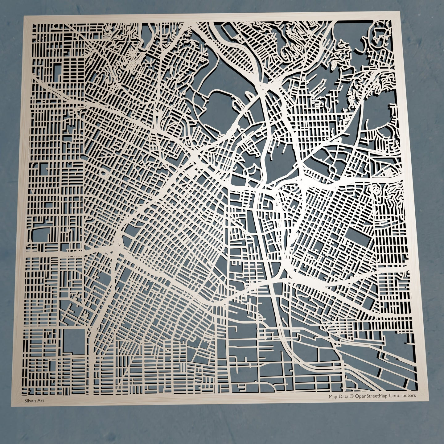 Los Angeles, California - 3D Wooden Laser Cut Map | Unique Gift