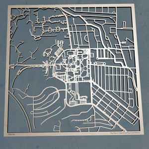 New Mexico Institute of Mining and Technology (New Mexico Tech) 3D Wooden Laser Cut Campus Map