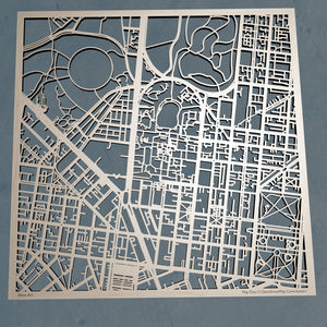 University of Melbourne 3D Wooden Laser Cut Campus Map | Unique Gift - Silvan Art