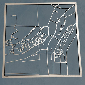 Alfred University 3D Wooden Laser Cut Map - Silvan Art