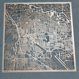 Tucson, Arizona - 3D Wooden Laser Cut Map | Unique Gift