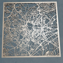 Load image into Gallery viewer, Montpellier France - 3D Wooden Laser Cut Map | Unique Gift
