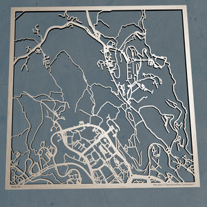 Hong Kong University of Science and Technology 3D Wooden Laser Cut Campus Map - Silvan Art