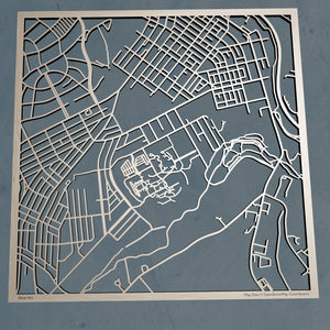 Alvernia University 3D Wooden Laser Cut Map | Unique Gift - Silvan Art