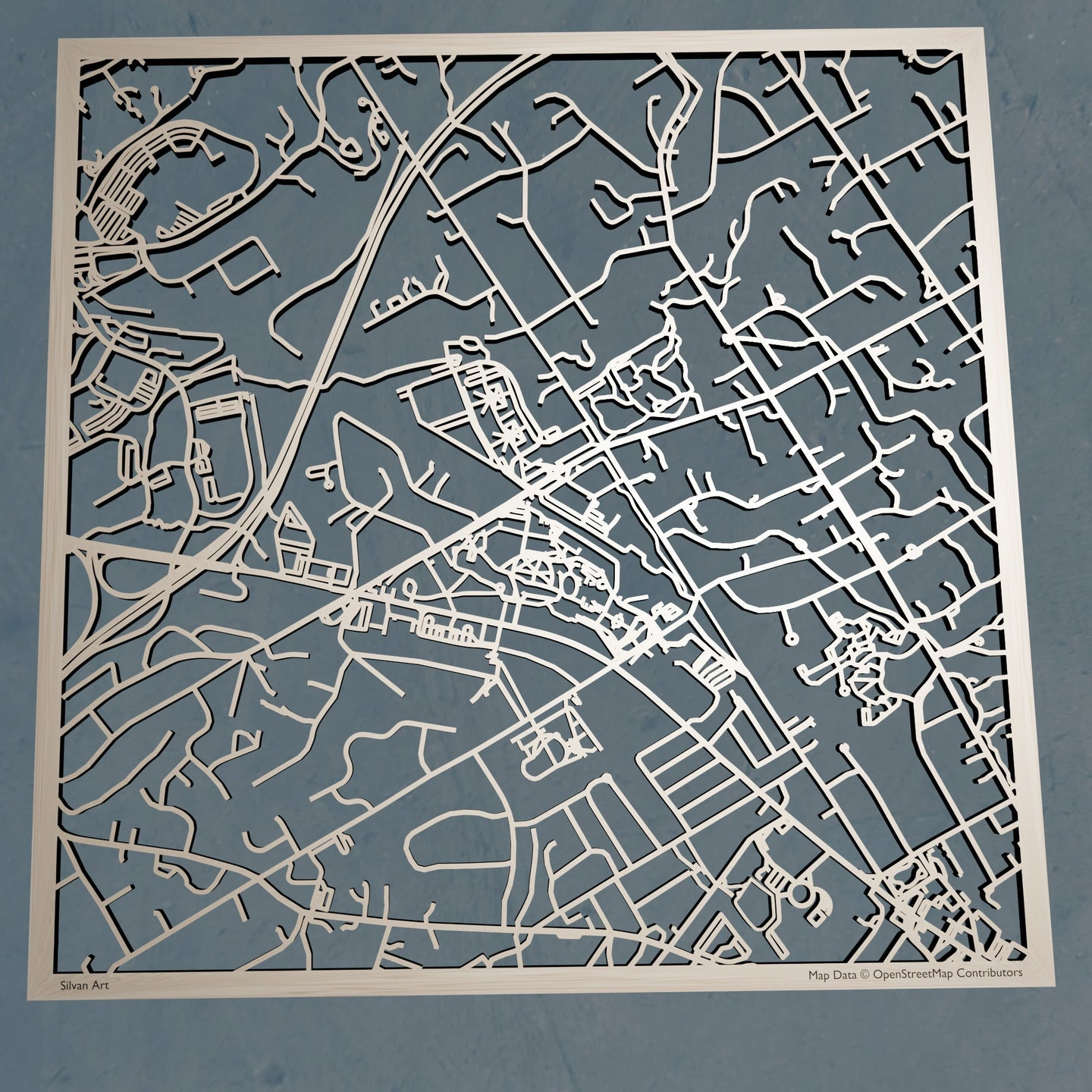 Villanova University 3D Wooden Laser Cut Map | Unique Gift - Silvan Art