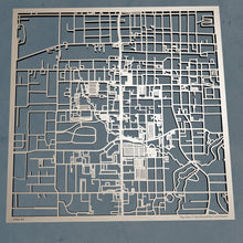 Load image into Gallery viewer, UT Arlington 3D Wooden Laser Cut Campus Map | Unique Gift