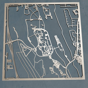 University of North Florida UNF 3D Wooden Laser Cut Campus Map | Unique Gift