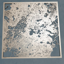 Load image into Gallery viewer, Athens Greece - 3D Wooden Laser Cut Map