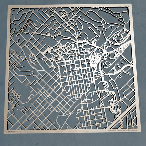 Texas State University - 3D Wooden Laser Cut Campus Map | Unique Gift