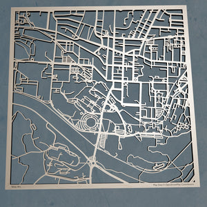 Ohio University 3D Wooden Laser Cut Campus Map | Unique Gift