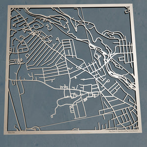 Saint Anselm College 3D Wooden Laser Cut Campus Map | Unique Gift - Silvan Art