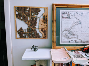 Laser Cut Map (Custom) - Silvan Art