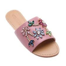 Mystique Pink jewelled slides