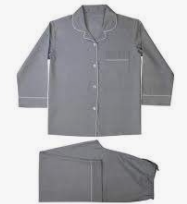 Grey Linen PJ Set