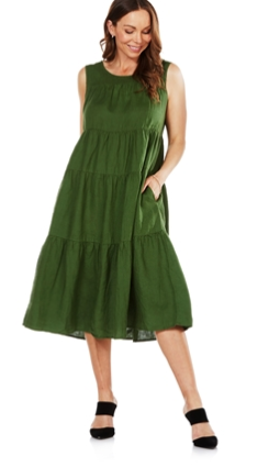 Tiers for Fears Cruz Linen Dress