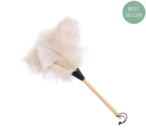 Ostrich White Feather Duster
