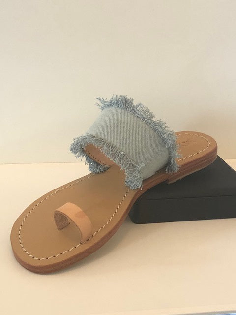 Mystique Denim/Leather Slide