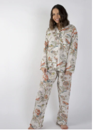 Vintage Birds Long PJ set