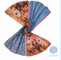 Flowers Copper blue Scarf