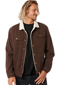 Sherpa Wanderer Denim Jacket Brown