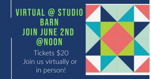 Quilt Block Painting Virtual and @studio noon June 2nd