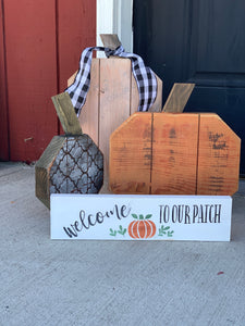 Create you set of three porch pumpkins