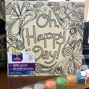 Wooden Canvas To Go Kit (Oh Happy Day, KaPow)