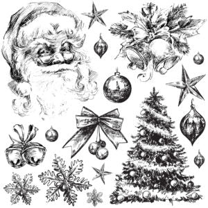 HOLLY JOLLY 12×12 IOD STAMP