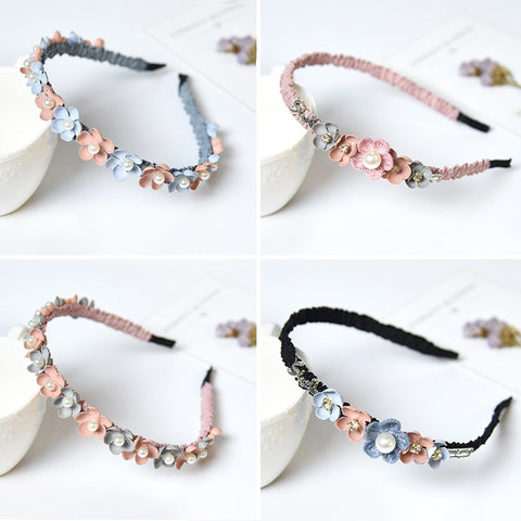 Flower Headband For Girls Rhinestone Crown