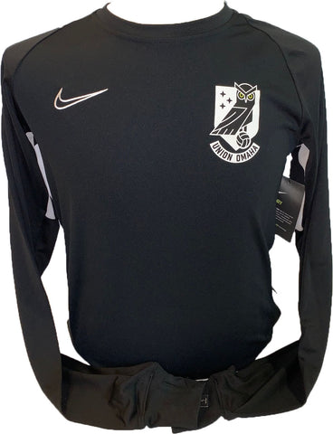 Union Omaha Men's Nike Academy Black Crew Top